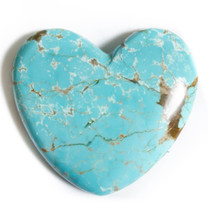 Number Eight Turquoise Heart - 47x47x7mm N8H5EL5a