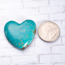Number Eight Turquoise Heart - 24x23x5mm N8H3S7