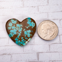 Number Eight Turquoise Heart - 36x33x4mm N8H3S8
