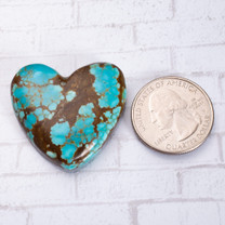 Number Eight Turquoise Heart - 36x33x4mm N8H3S9