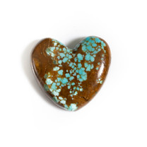 Number Eight Turquoise Heart - 30x28x8mm N8H3S6