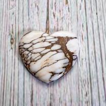 Wild Horse Magnesite Heart(Arizona) 33x30x5mm WHH5M1