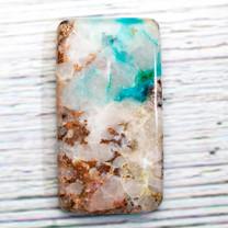 Quartz, Native Copper - Chrysocolla (Ray Mine-Hayden-Arizona)50x27x6mm RMC1a