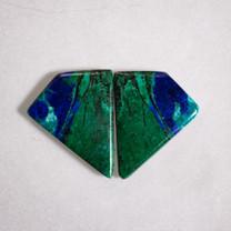 Azurite & Malachite Pair-39x25x7mm (Bisbee,Arizona) B106