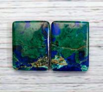 Azurite & Malachite Pair-25x19x3mm (Bisbee,Arizona) B107