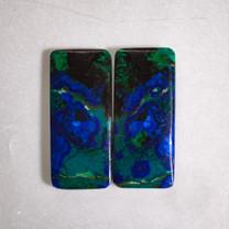 Azurite & Malachite Pair-33x15x3mm (Bisbee,Arizona) B104