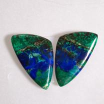 Azurite & Malachite Pair-26x15x15x3mm (Bisbee,Arizona) B103