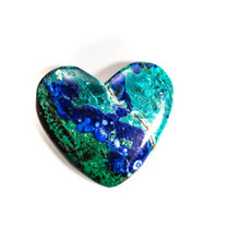 Azurite & Malachite Heart-37x37x7mm(Bisbee,Arizona) B121