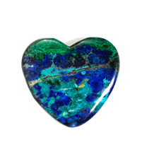 Azurite & Malachite Heart-32x37x7mm(Bisbee,Arizona) B120