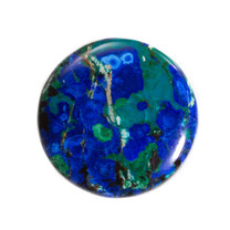 Azurite & Malachite Round-37x7mm Round(Bisbee,Arizona) B119