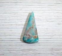 Quartz, Native Copper - Chrysocolla (Ray Mine-Hayden-Arizona) 49x49x24x6mm RMC12
