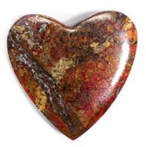 Cuprite & Native Copper Heart-Ray Mine-Arizona-50x50x8mm-CNH8