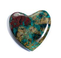 Chrysocolla-Cuprite Heart-Ray Mine-Arizona-50x50x7mm-CNH11