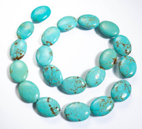 Number Eight Turquoise Ovals(Nevada) 15x20x6mm N8OV5