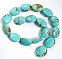 Number Eight Turquoise Ovals(Nevada) 18x25x7mm N8OV2