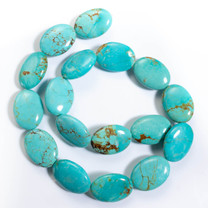 Number Eight Turquoise Ovals(Nevada) 18x25x7mm N8OV1