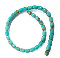 Number Eight Turquoise Barrel(Nevada) 8x6mm N8B4