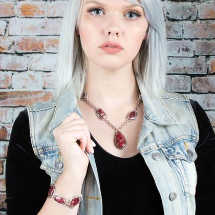 Eudialyte Necklace & Bracelet(Canada)