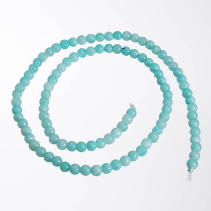 Amazonite(Peru) Natural Color 4mm Rounds