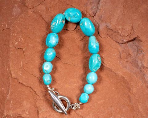 Sleeping Beauty Nugget Bracelet(Arizona)