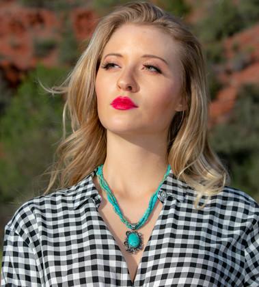 Three Strand Baja Turquoise Necklace and Pendant