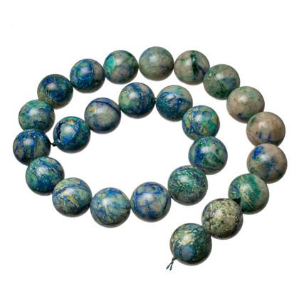 Bluebird Azurite-Malachite- 16mm Rounds(Globe,Az) BAM16a