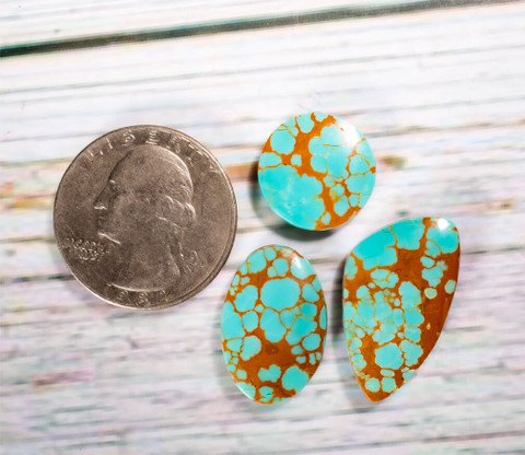 #8 Mine Turquoise Cabochon Set(Stabilized) 8S1i