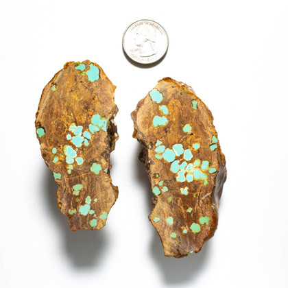 #8 Mine Turquoise Rough Slabs(Stabilized) 8RR1a