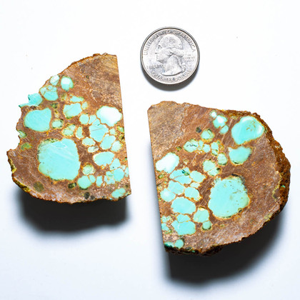 #8 Mine Turquoise Rough Slabs(Stabilized) 8RR3b