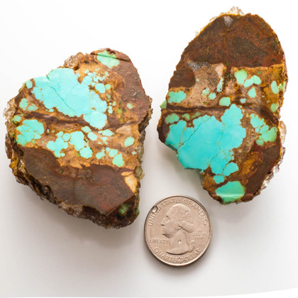 #8 Mine Turquoise Rough Slabs(Stabilized) 8RR4a