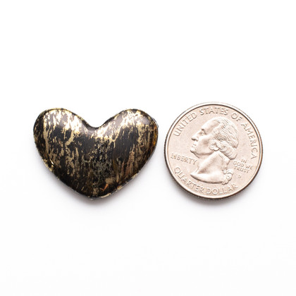 Apache Gold Heart(Jerome, Arizona) 28x22x4mm APH3a