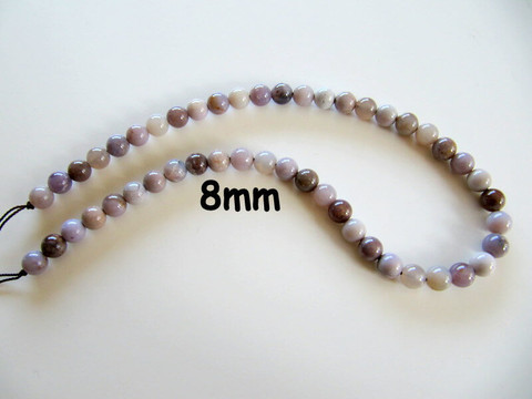 Lavender Agate(Mexico) 8mm Rounds LARD8