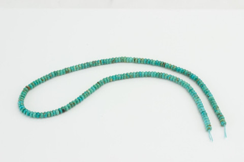 Baja Turquoise(Mexico) 4mm Rondell  BT3a