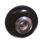 Black Obsidian & Sterling Silver Bead