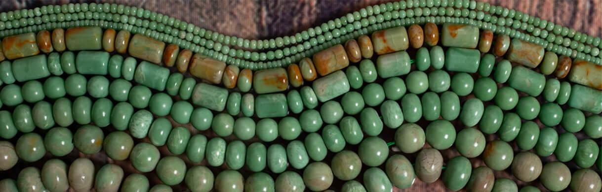 Alunite(Arizona),Green Alunite,Alunite beads