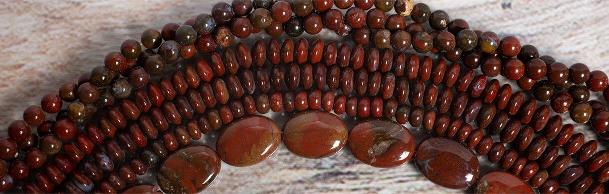 fiesta jasper,jasper beads,oregon jasper