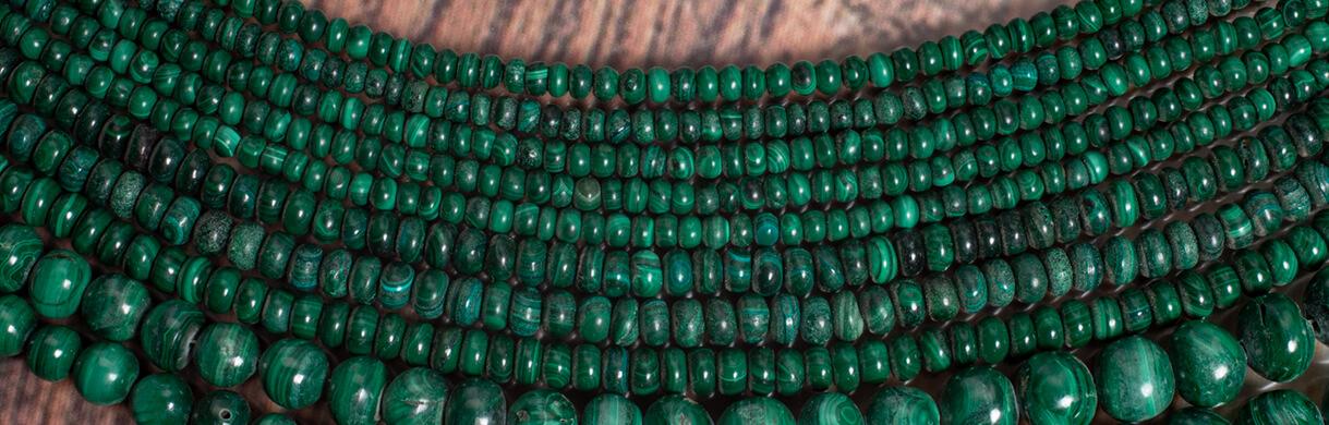 Malachite beads