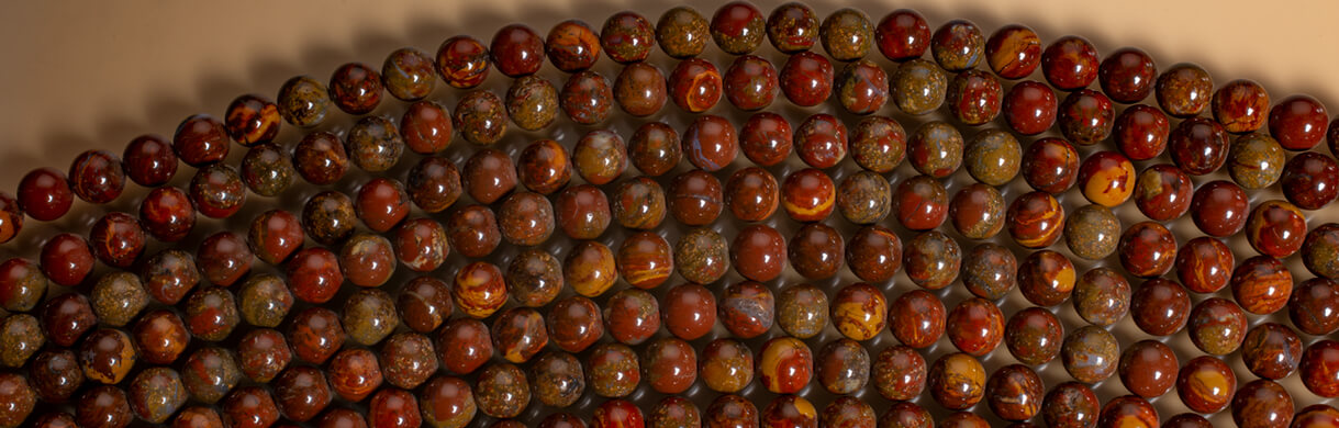 jasper beads,Sunspot Jasper Nevada
