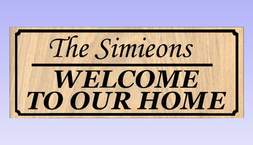 Welcome Sign Personalized