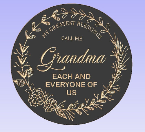 Greatest Blessings Round Sign Personalized