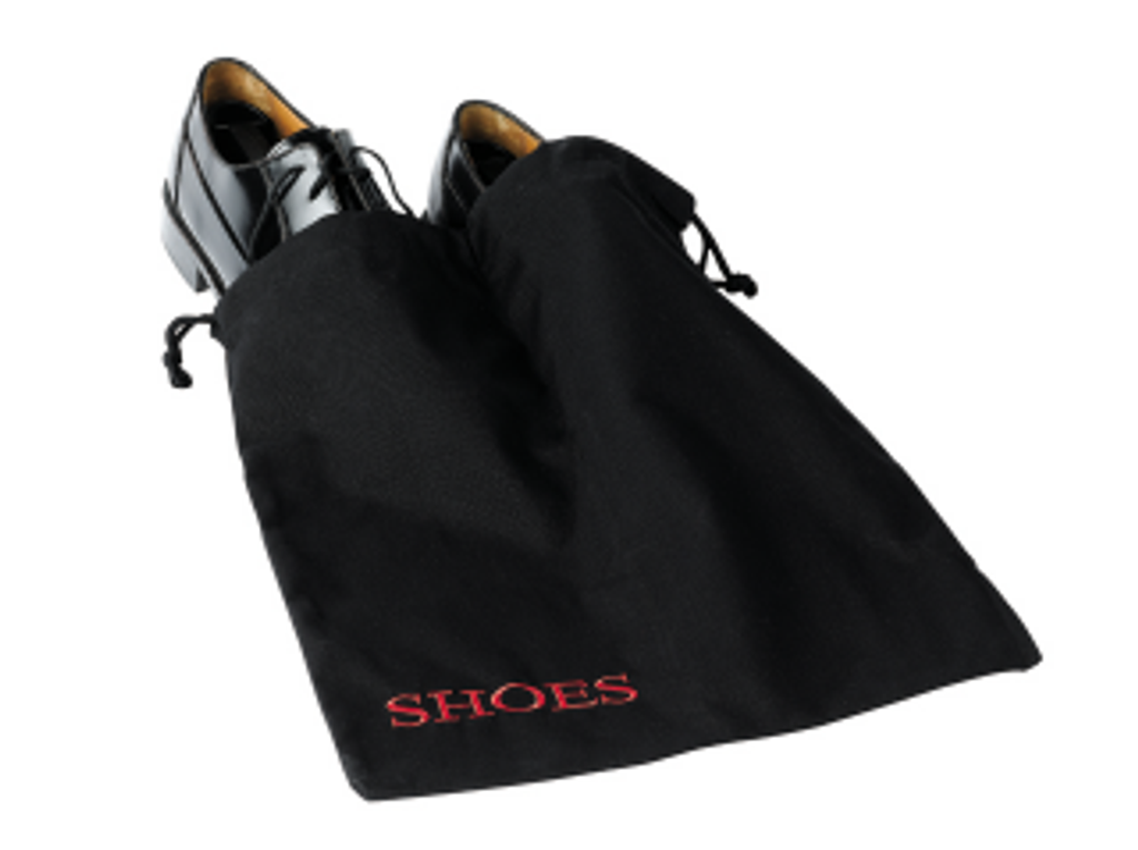 Black shoe bag w/ Red embroidery - 30 pack