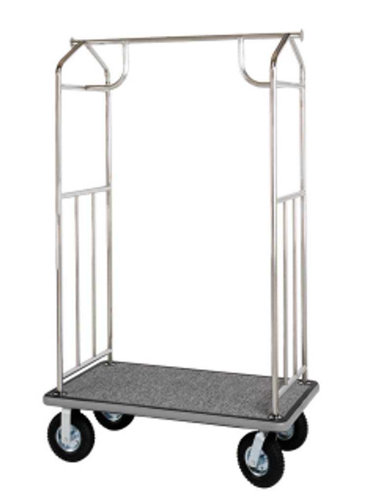 Value Valet Bellman's Cart - Chrome Finish- Wholesale Hotel Products