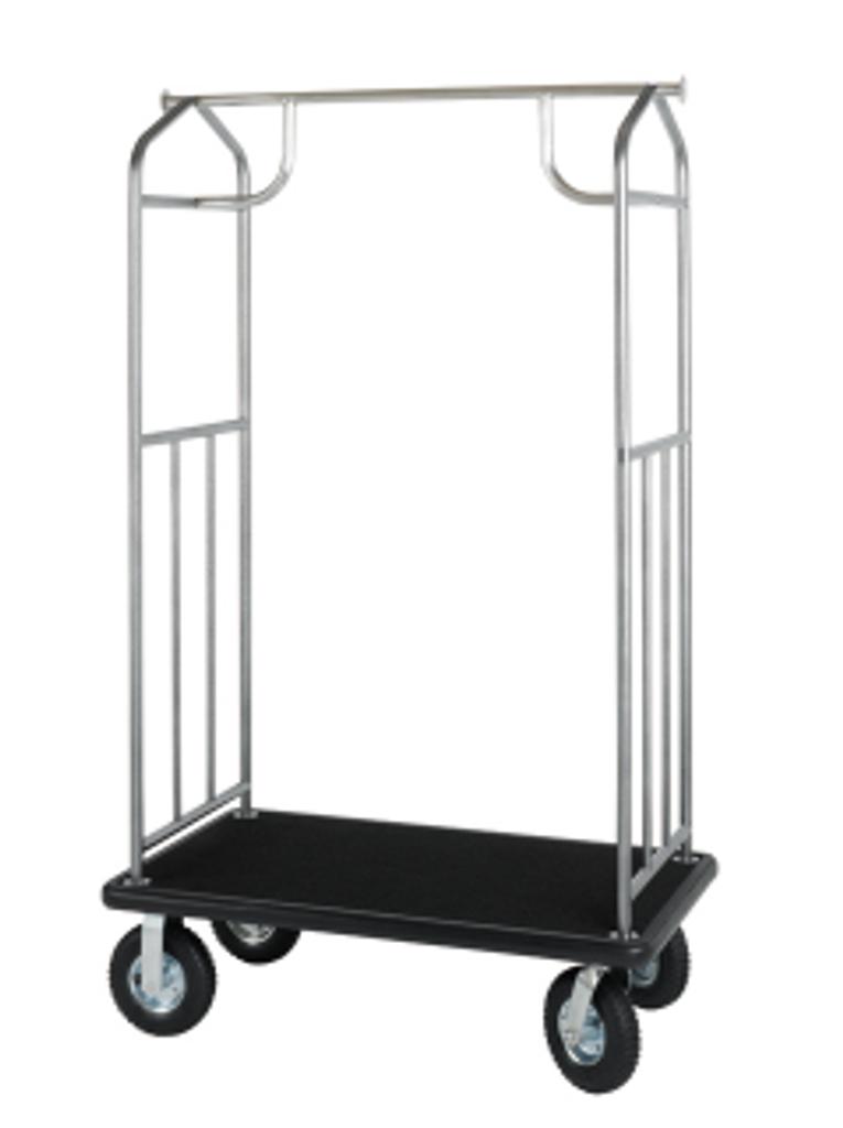 Value Valet Bellman's Cart- Hammertone Finish- Wholesale Hotel Products