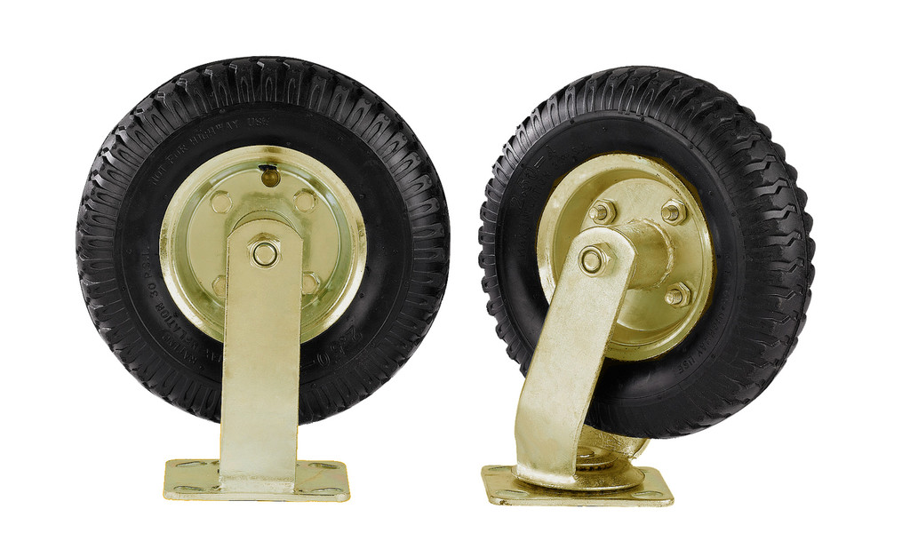 "8"" pneumatic (air filled) wheels"