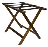 Deluxe Wood Luggage Rack- Dark Walnut Finish