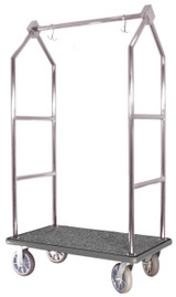 Modern Bellhop Bellman's Cart - Stainless Steel Finish- Wholesale Hotel Products