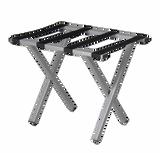 Square Tubed Metal Luggage Rack, Silver
