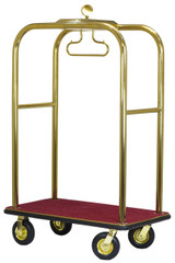 Executive Bellman's Cart- Titanium Gold Finish- Wholesale Hotel Products