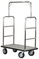 Select Valet Bellman's Cart- Brushed Stainless Steel Finish- Wholesale Hotel Products