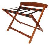 Modern Wood Luggage Rack w/Back- 2 pack